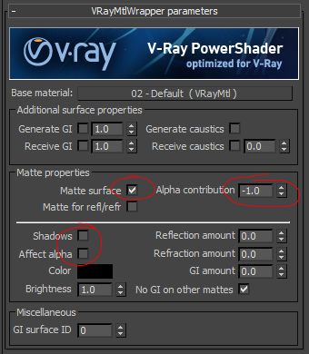 VrayMatteSettings